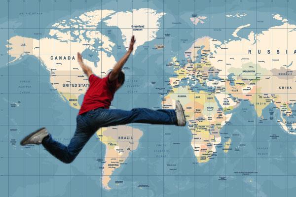 海外へ飛んで行け!