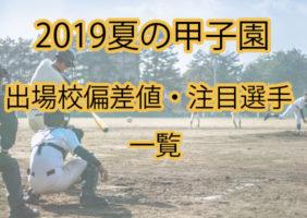 【最新】2019年夏の甲子園出場校紹介・偏差値一覧