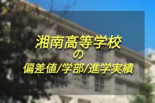 湘南高等学校 偏差値 学部 進学実績